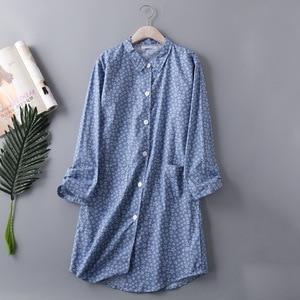 Image 4 - Bahar Rahat Yumuşak Pamuklu Seksi Pijama Artı Boyutu Kadınlar turn aşağı Yaka Kadın Iç Çamaşırı Gecelik Karikatür gece elbisesi