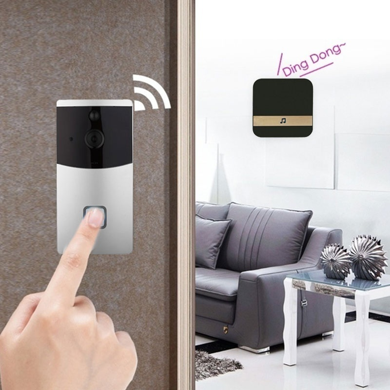 Image 2 - Smart WiFi Video Doorbell Camera Visual Intercom with Chime Lower Consumption Power Door Bell Wireless Home Security Camera-in Doorbells from Home Improvement