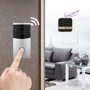Image 2 - חכם WiFi וידאו פעמון מצלמה חזותי אינטרקום עם פעמון נמוך צריכת חשמל דלת פעמון אלחוטי אבטחת בית מצלמה