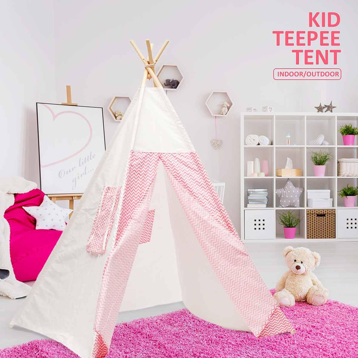 Enfants de Tente pour enfants Tipi Tente Princesse Château pour la chambre des Enfants D'anniversaire De Noël Cadeau Playhouse pour En Plein Air Intérieur
