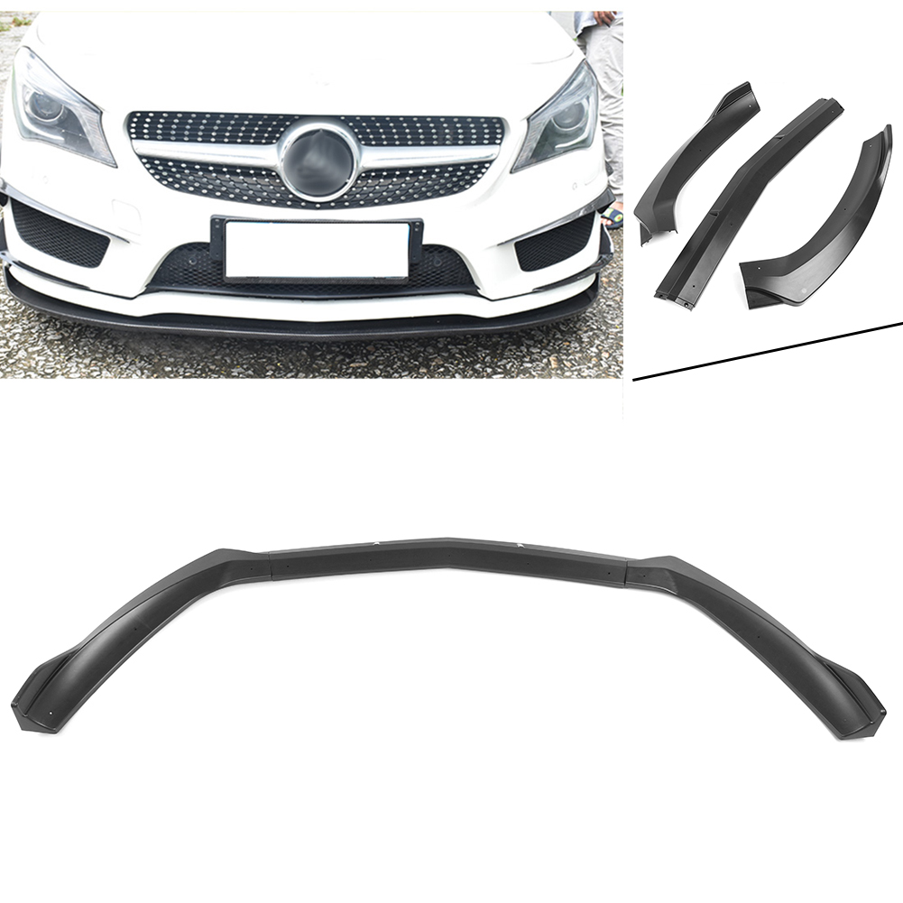W117 C117 CLA45 AMG 2017 2018 Front Bumper Lip Lower Cover Protector Trim For Benz Auto Car ABS Plastic Parts Matt Black
