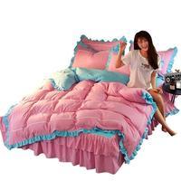 Duvet Cover Edredon Matrimonio Jogo Queen King Size Cotton Linen Bedding Bed Ropa De Cama Sheet And Quilt Bedsheet Set
