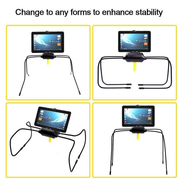 Black Color ABS Material Flexible Tablet Holder For Bed Newest Adjustable Stand For iPad Tablet and Cell Phone soporte tablet 3