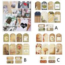 12PCS Craft Scrapbook Paper Craft Paper Label Bookmark Message Card Scrapbook Handbook Handmade Card Decoration Accessories(China)