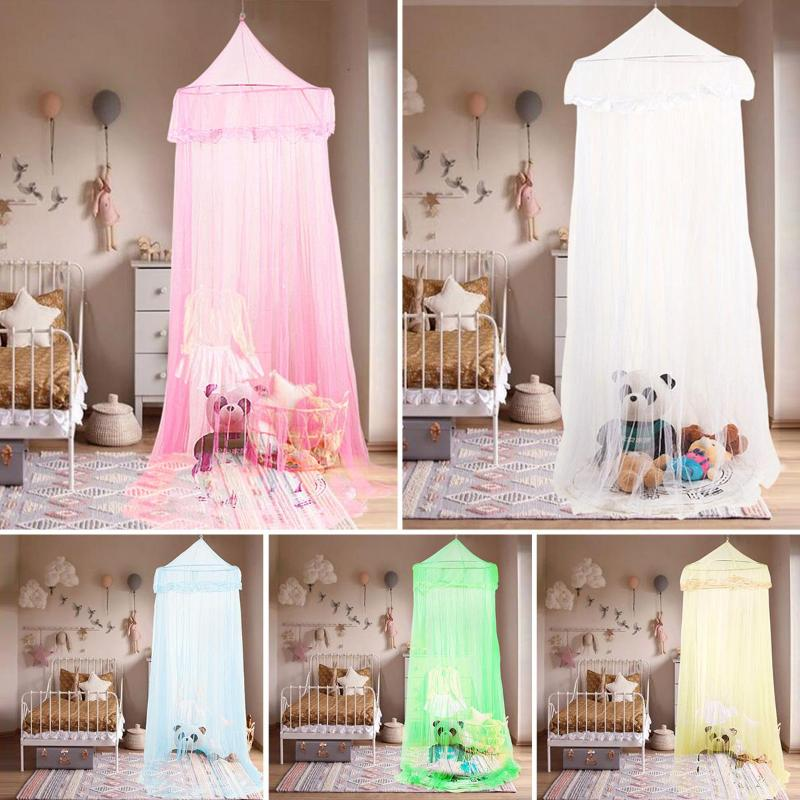 Simple Hanging Canopy Kid Baby Bed Mosquito Net Dome Playing Floor Bedcover Colorful Bed Mosquito Nets For Baby Kids Children