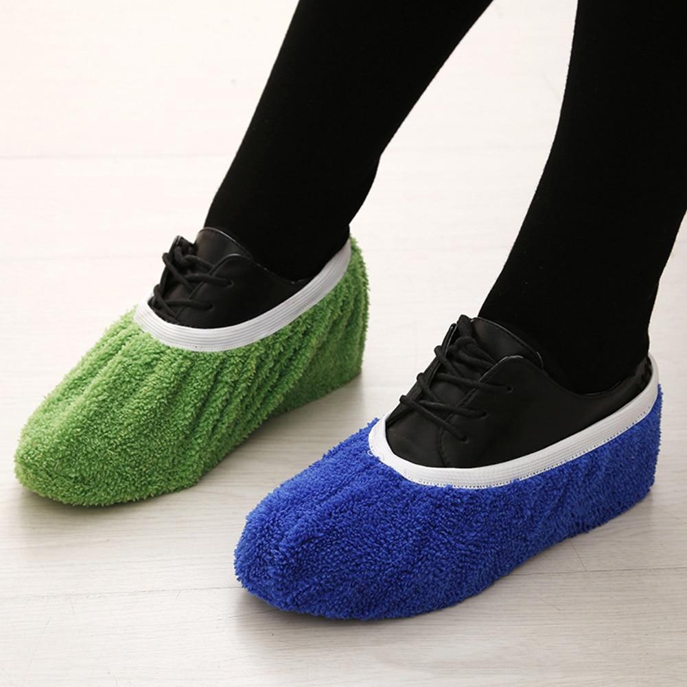 1 Paar Heißer Verkauf Multifunktions Faser Pantoffel Schuh Abdeckungen Reinigen Hausschuhe Faule Drag Schuh Mop Kappe Haushalt Werkzeuge Schuh Schutz