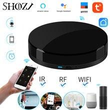 קול שליטה Alexa Google בית TUYA אוניברסלי חכם מרחוק חכם בית חכם אוטומציה בבית WIFI + IR + RF עבור חכם בית SHOJZJ