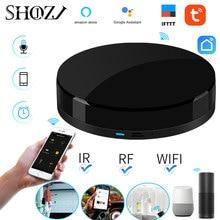Ses Kontrolü Alexa Google EV TUYA Evrensel Akıllı Uzaktan Akıllı Ev Akıllı Ev Otomasyonu WIFI + IR + RF akıllı Ev SHOJZJ