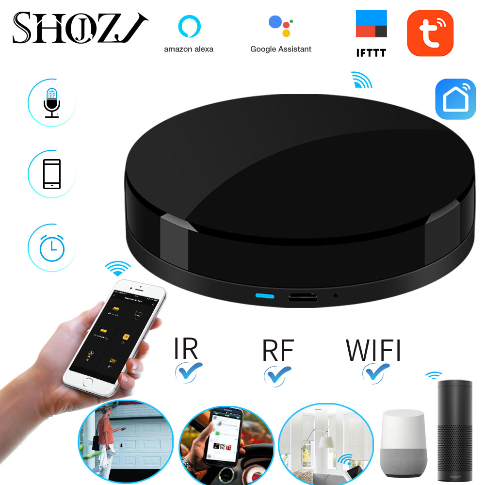 Voice Control Alexa Google HOME TUYA Universal Smart Remote Smart Home Smart Home Automation WIFI IR RF for Smart Home SHOJZJ