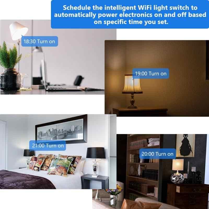 Delicado Wifi Control bombilla Base interruptor lámpara soporte inalámbrico inteligente bombillas enchufe 2019