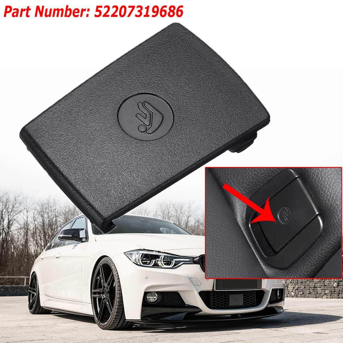 1x Universal Car Rear Child Seat Anchor Safety ISOFix Cover Trim Child Restraint For BMW F30 F31 3-Series F20 F21 F22 F80 M3 F34