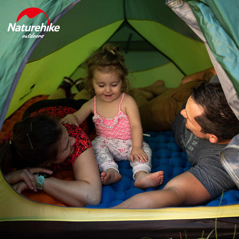 Naturehike Новое Поступление Надувной Спальный коврик с воздушным мешком матрас Открытый туристический коврик Сверхлегкий палаточный лагерь влагостойкий коврик