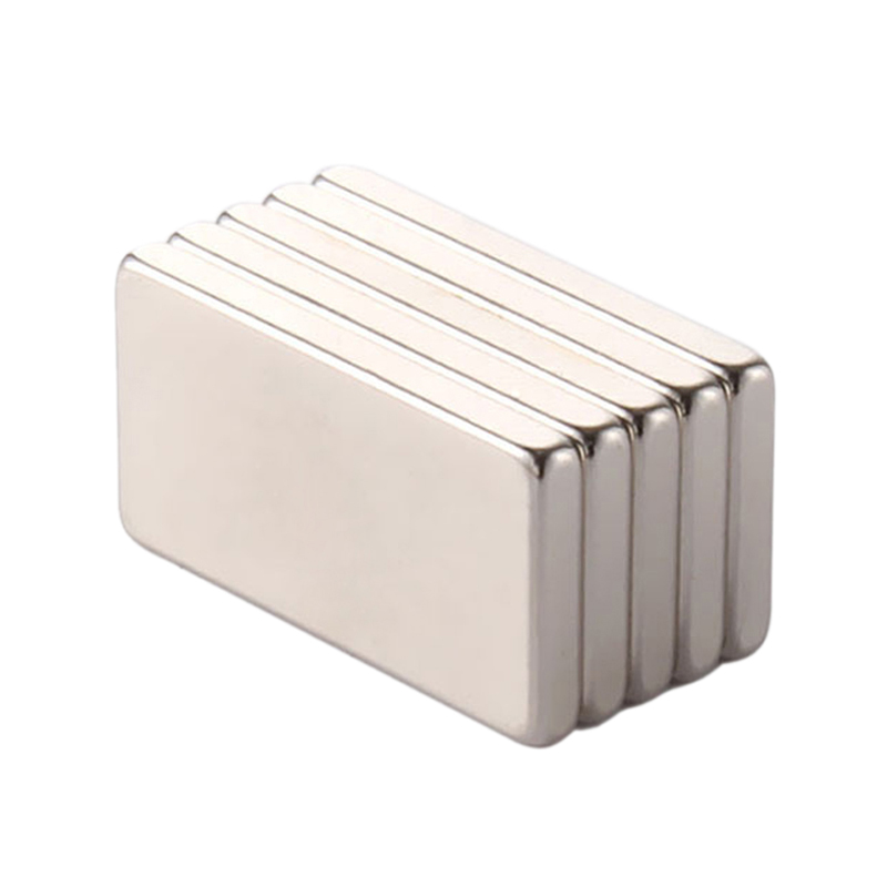 5Pcs 20X10X2Mm Super Powerful Small Neodymium Magnet Block Permanent N35 Ndfeb Strong Cuboid Magnetic Magnets Fridge Magnets