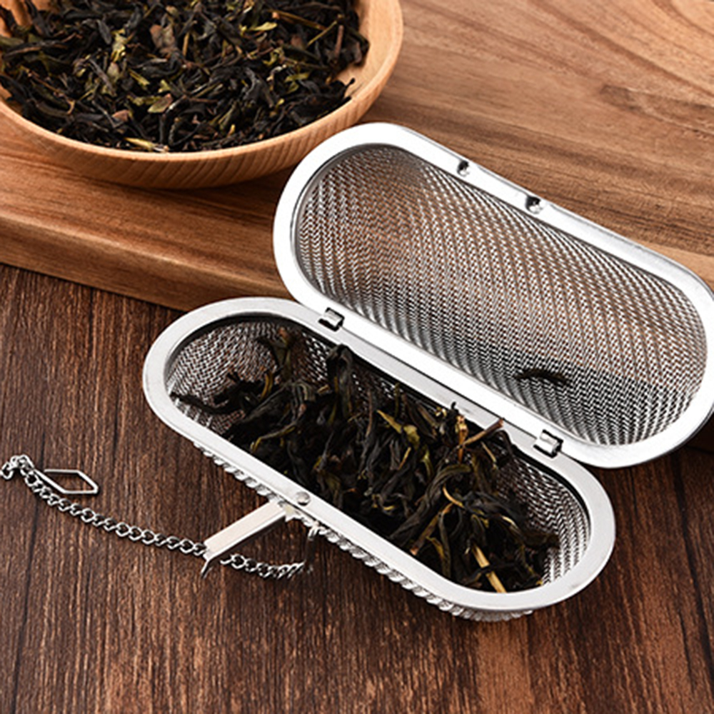 2019 New Reusable Hanging Safe Mesh Tea Strainer Stainless Steel Compact Size And Lightweight Tea Infuser Strainer Kitchen Tool