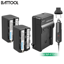 Bonacell 6000mAh NP-F770 NP-F750 NP F770 np f750 NPF770 750 Batteries+Charger For Sony NP-F550 F960 F970 L10