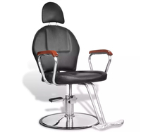 Vidaxl Professional Hairdressing Chair Black Imitation Leather With Headrest Commercial Furniture