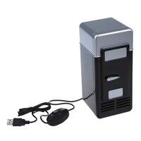 PC USB Mini Kühlschrank Kühlschrank Getränke Trinken Kann Kühler Wärmer