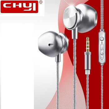 Bass Mobile Phone Headset Universal Wire Control Sports Earphones In-Ear Universal Mic Phone Call for iPhone PC Laptop