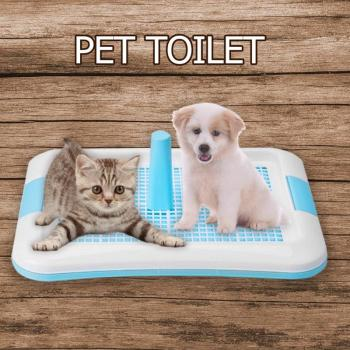 Pet Dog Toilet Potty Cat Dogs Litter Tray Urinal Bowl Pee Trainer with Column Training Toilet Easy to Clean Pet Products