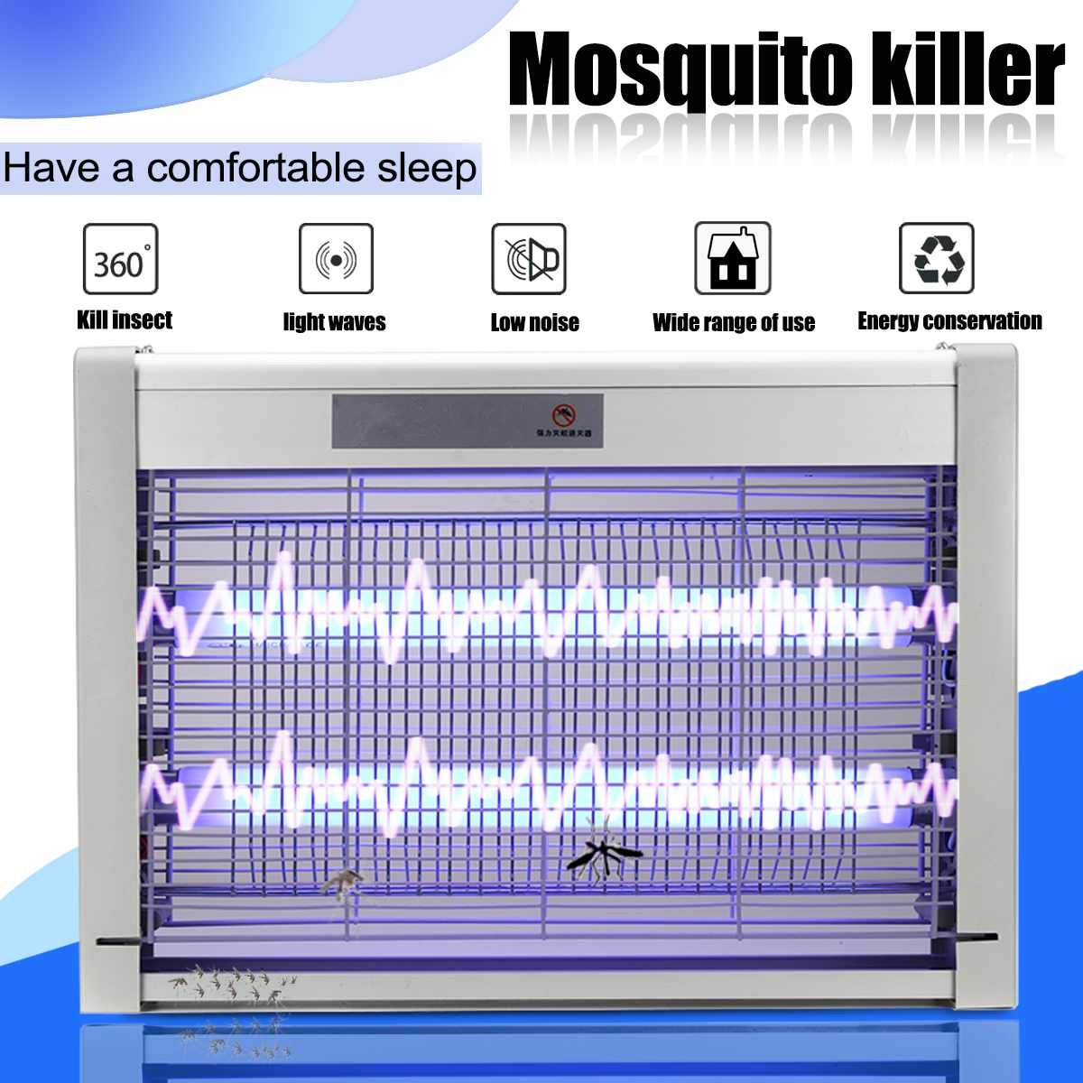 220V LED Mosquito Killer Traps Lamp Night Light Electric Shock Insect Bug Zapper Trap Anti Fly Repeller Indoor Pest Traps Lights