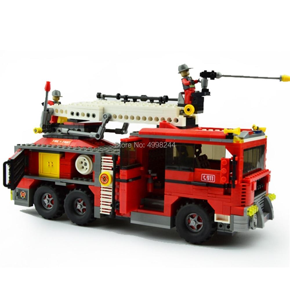Able Ausini 21702 939pcs City Fire Ladder Truck Building Block Bricks Toy