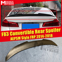 F83 AEPSM style Spoiler FRP Primer black Tail Wing For BMW M4 2-door Convertible 420i 430i rear trunk wing Lip 14-18