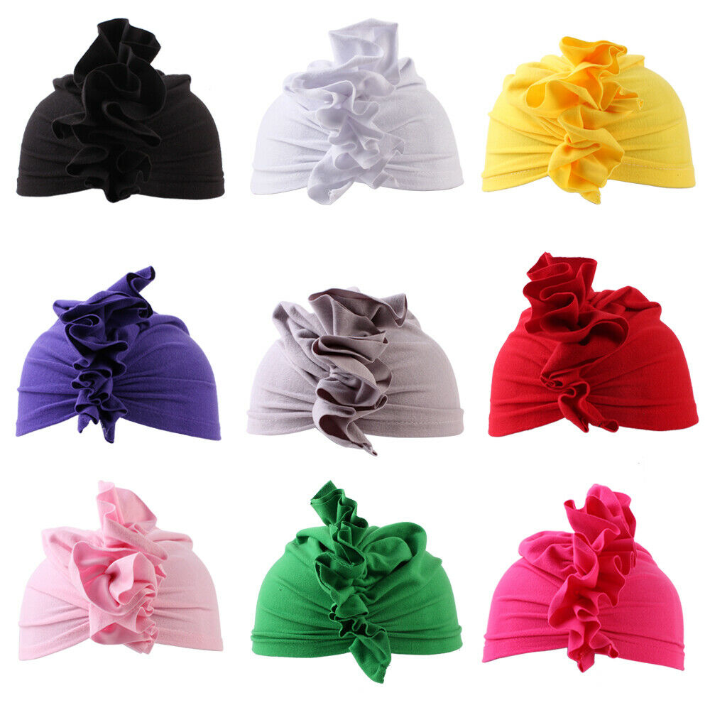 Cap Hat Bohemian-Style Kids Children Cute Cotton New for Girls Headwear Turban Ear-Knot