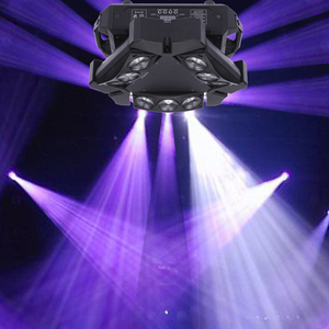 Image 5 - 파티 디스코 ktv 90 w 9led rgbw 풀 컬러 dmx512 사운드 컨트롤 16/48 채널 미니 삼각형 스파이더 램프 빔 무대 조명 클럽