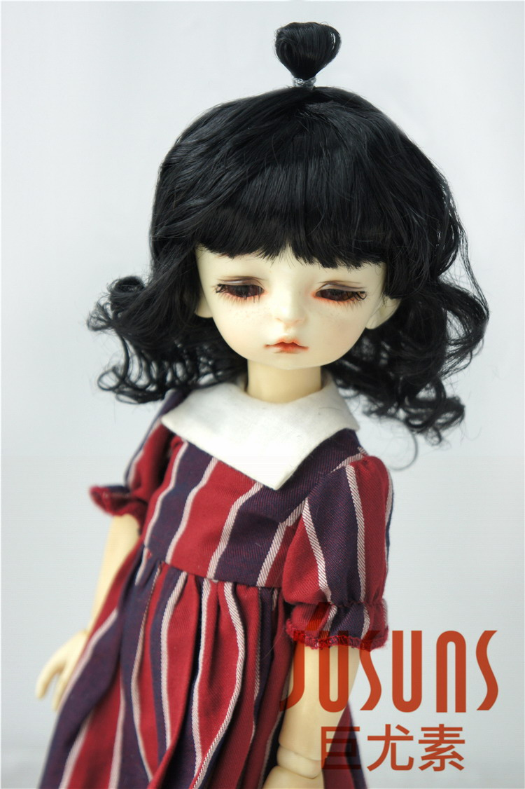 JD375 1/8 Lovely Up Style Wave Synthetic Mohair BJD Doll Wigs 5-6 - Қуыршақтар мен керек-жарақтар - фото 4