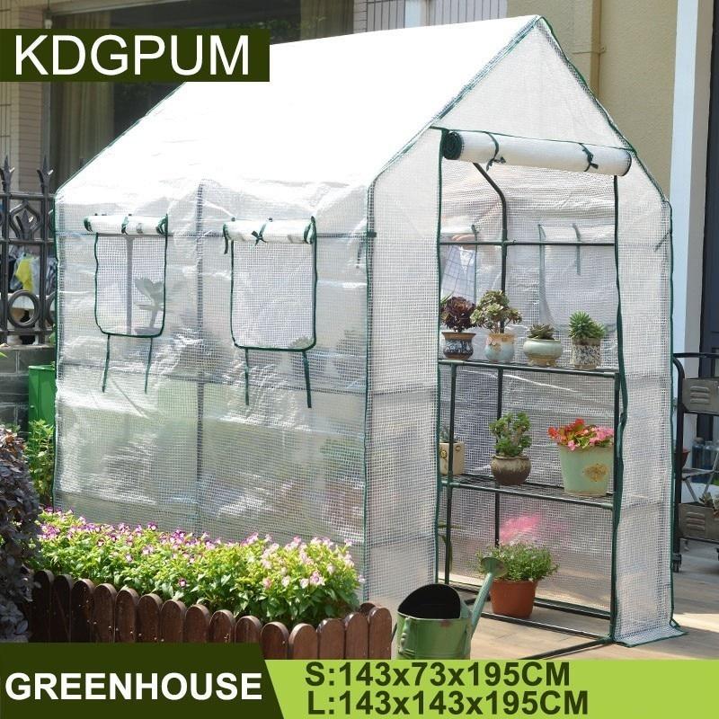 Портативный пластиковый ПВХ Полиэтилен для теплиц крышка садовая теплица растение Выращивание овощей палатка сохранение тепла непромокае