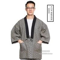 New Japanese Men Women Winter Warm Wadded Cotton Kimono Japan Haori Outterwear Hanten coat Fashion male samurai clothing DH050
