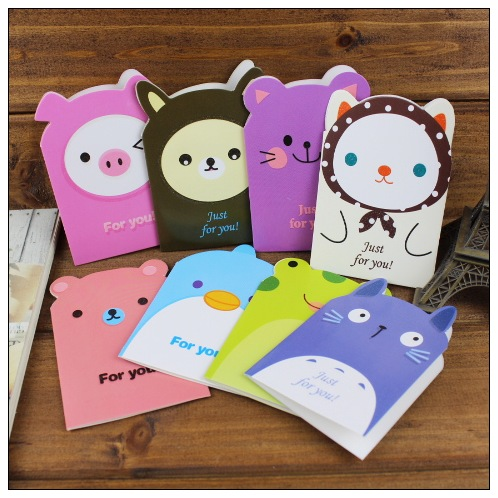 16pcslot creative 3d cartoon animal greeting cards with envelopes 16pcslot creative 3d cartoon animal greeting cards with envelopes for birthday chirstmas gift cute m4hsunfo