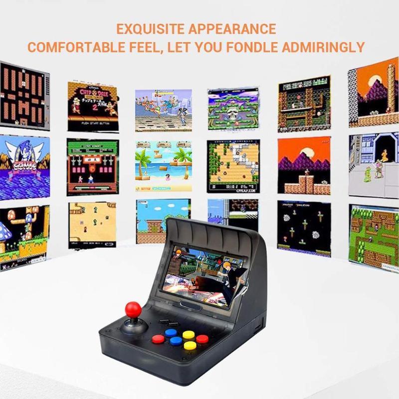 ALLOYSEED 4.3 pouces rétro A8 16G Console de jeu joueur de jeu Machine intégrée 3000 jeux prend en charge jusqu'à 32G carte TF