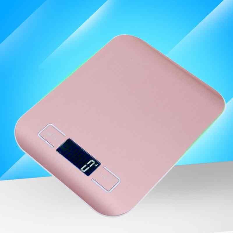 Переносной 10 кг/1 г кухонные весы электронные с ЖК дисплеем из нержавеющей стали