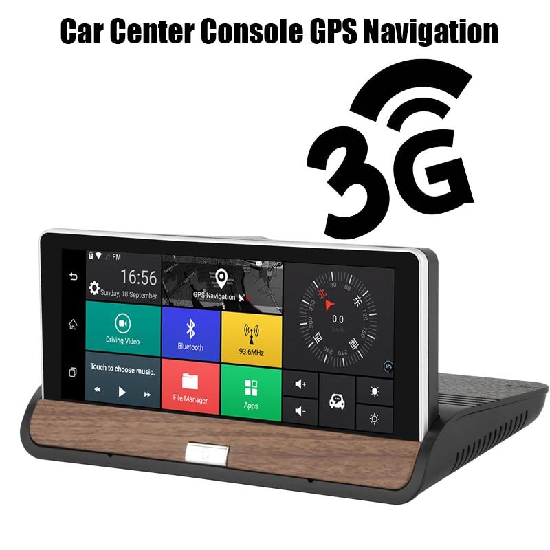 Автомобильный видеомагнитофон центральная консоль gps навигация Full HD 1080p двойной объектив заднего вида камера автомобиля dvr 7 дюймов