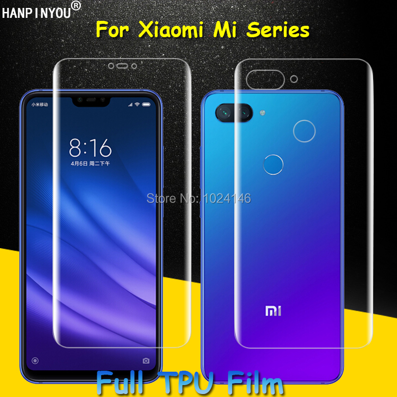 Front/Back Full Coverage Clear Soft TPU Film Screen Protector For Xiaomi Mi 9 8 SE A2 Lite Pro A1 6 5s Plus (Not Tempered Glass) xiaomi mi 8 aliexpress
