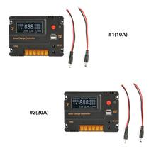 цена на 12V Intelligent Panel Battery LCD Display Solar Charge Controller with Output Switch 10A/20A