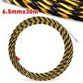 1 pc 6.5mm * 30 m fiber nylonFish Tape Kabel Push Puller Leiding Snake Kabel Rodder Vis Tape Draad gids met corrosiebestendige