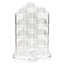 6Pcs/Set Spice Jar Pepper 12 Tower Rotating Design  Kitchen Rack Condiment Bottles