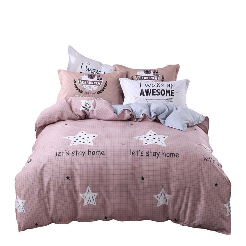 100% cotton cartoon star beddings brief style duvet covers plaid sheet home textile bed cover queen size bed sets for kid adults100% cotton cartoon star beddings brief style duvet covers plaid sheet home textile bed cover queen size bed sets for kid adults