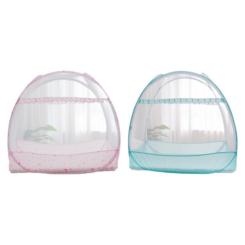 Fashion Baby Crib Safety Net Pop Up Tent Yurt Free Installation Folding Mosquito Net