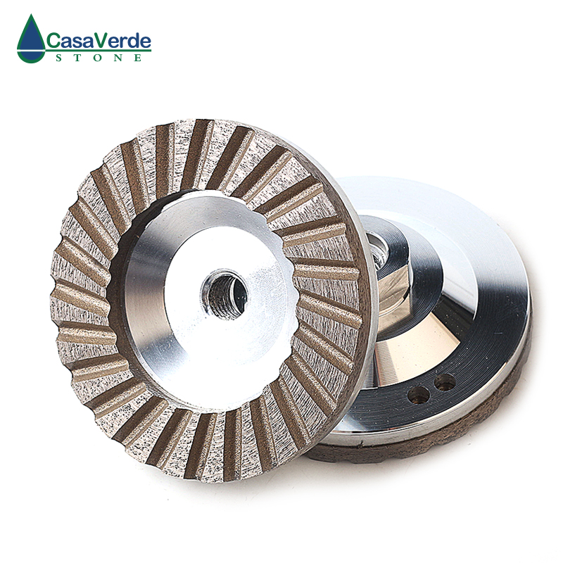 DC ACW 1pcs carton diameter 100mm 4 inch aluminum backer diamond grinding wheels for grinding stone
