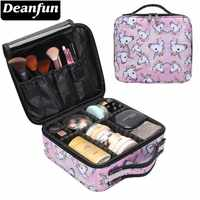 Deanfun Unicorn Makeup Case Multifunctional Cosmetic Bag Travel Organizer Train Cases with Adjustable Dividers 16001