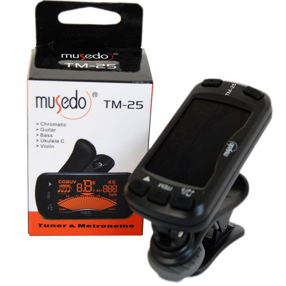 2 In 1 Electric Guitar Tuner & Metronome Multifunction Portable Clip-on Tuner Guitar Chromatic Bass Violin Ukulele Universal