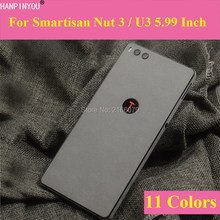 "For Smartisan Nut 3 Nut3 / U3 5.99"" Luxury Plush Surface Full Back B Cover Protective Suede Sticker Skin Decal Film(China)"