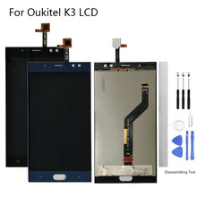 Display Screen Replace For Oukitel K3 LCD Touch screen 5.5 inch black blue for