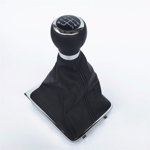 Image 1 - 5/6 Speed Car Gear Shift Knob Stick Gaiter Boot Frame With Cover Case Kit For VW Passat B6 2005 2006 2012 Gear Shifter Knob