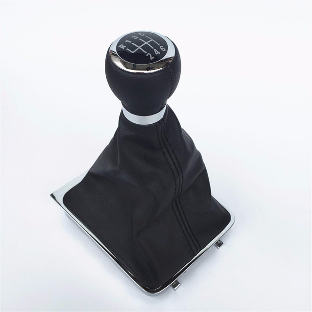 5/6 Speed Car Gear Shift Knob Stick Gaiter Boot Frame With Cover Case Kit For VW Passat B6 2005 2006 2012 Gear Shifter Knob