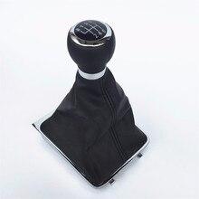 5/6 velocità Car Gear Shift Manopola Del Bastone di Ghetta Boot Telaio Con Il Caso Della Copertura Kit Per Il VW Passat B6 2005 2006 2012 Gear Shifter Manopola