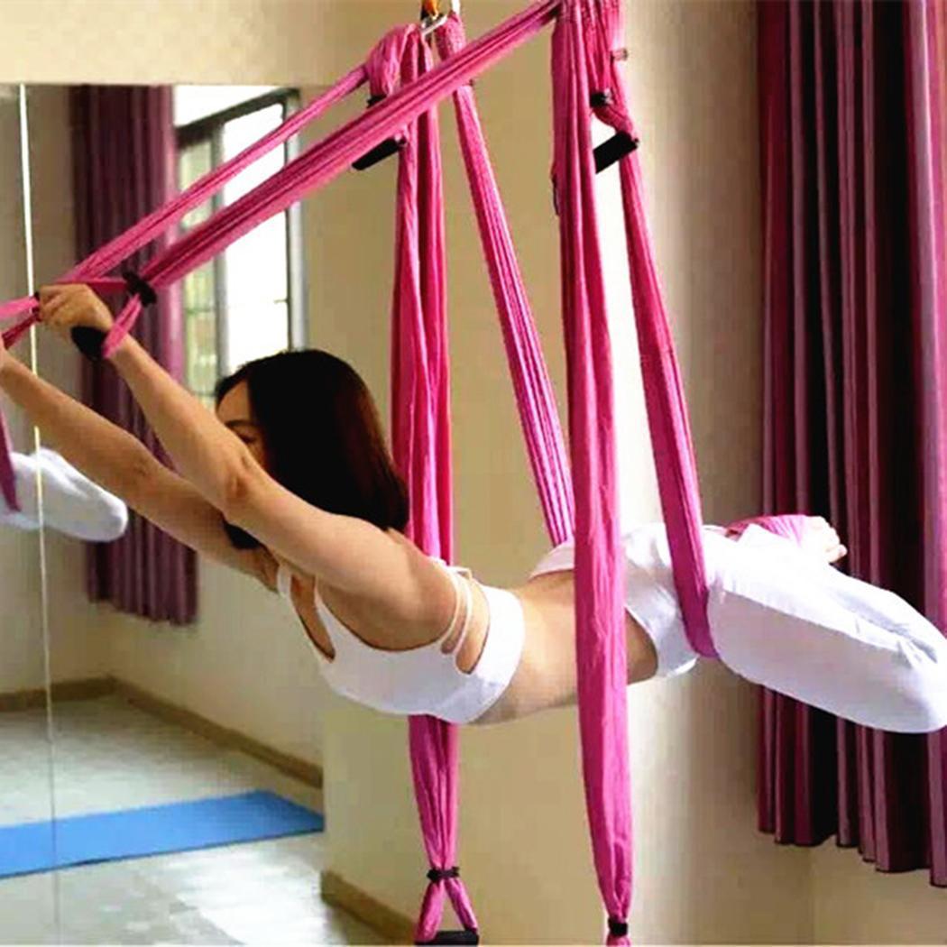 Anti-Gravité hamac de yoga aérien Pilates Aérienne Vol 200 kg Swing Gym, Maison, Aléatoire Matériel De Traction